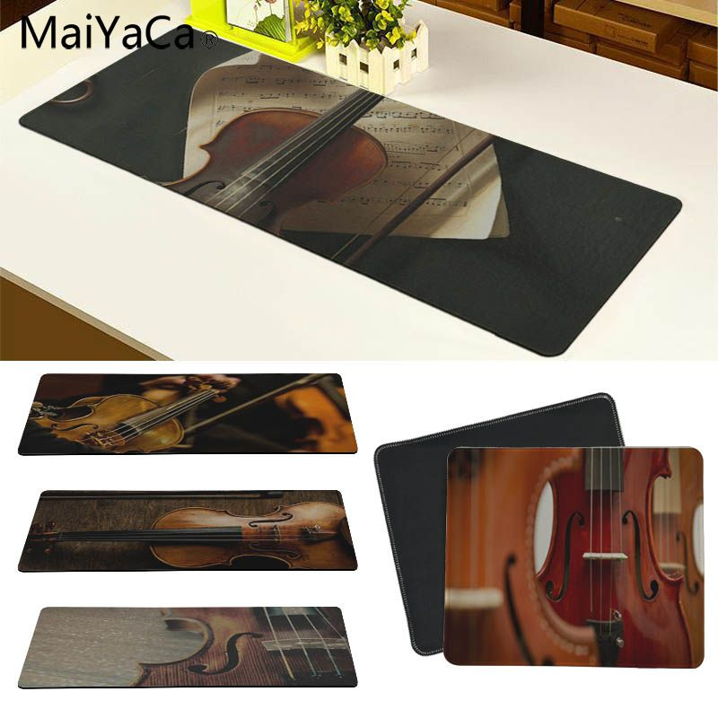 MaiYaCa Violin Strings Instrument Music Large Mouse pad PC Computer mat Size for 30x90cm and 40x90cm Gaming Mousepads