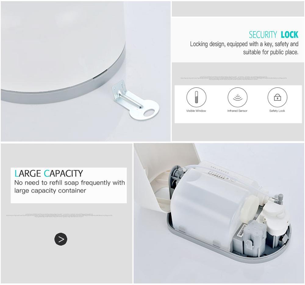 Sensor Seife Spender Hand Frei Badezimmer Automatische Spray Dispenser Hand Waschen Hotel Flüssigkeit dispenser 1100 ml - 6