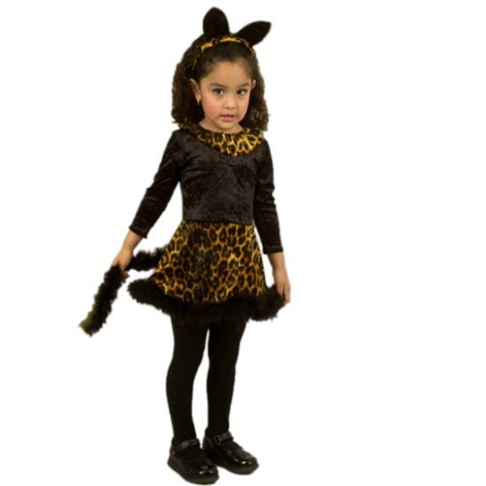 Girls Toddler Lovely Little Kitty Dress Cat Girl Halloween Cosplay Costume Child Animal Costume