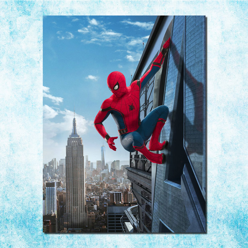 2017 Spider-Man New Superhero Art Silk Canvas Poster Print 13x18 24x32 inch Movie Pictures Living Room Decor (more)-3