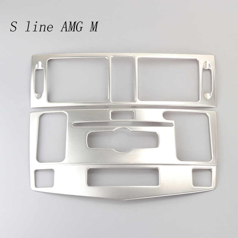 For Mercedes Benz C class W204 Interior Trim Air conditioning CD Control  Panel frame Car Styling Stickers cover Auto accessories