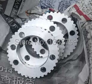 China wholesale cheap price aluminum 48 teeth T5 timing pulleys china manufacture cheap price machine mention part aluminum blank