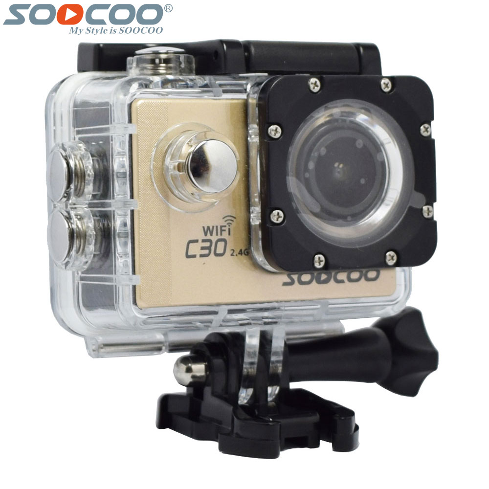 где купить SOOCOO C30R C30 4K WiFi Action Video Camera Gyro Wireless Remote Control Waterproof Bike Mini Outdoor Sport Camcorder Bicycle DV дешево