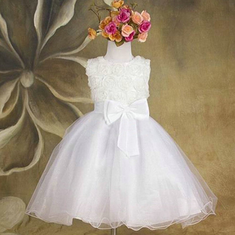 Infant Baby Girl Birthday Party Dresses Baptism Christening Easter Gown Toddler Princess Lace Flower Dress for 2-7 Years baptism christening gown baby girls dress 1 year birthday dress tutu girl white lace formal infant 1st birthday princess dress