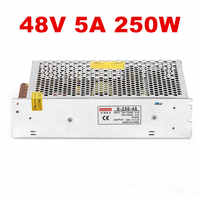 1PCS 250W 48V 5.2A power supply for industrial control LED drive AC to DC power suply 48V 250w power supply 100-240VAC