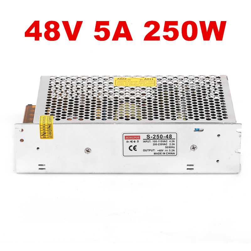 1PCS <font><b>250W</b></font> 48V 5.2A <font><b>power</b></font> <font><b>supply</b></font> for industrial control LED drive AC to DC <font><b>power</b></font> suply 48V <font><b>250w</b></font> <font><b>power</b></font> <font><b>supply</b></font> 100-240VAC image