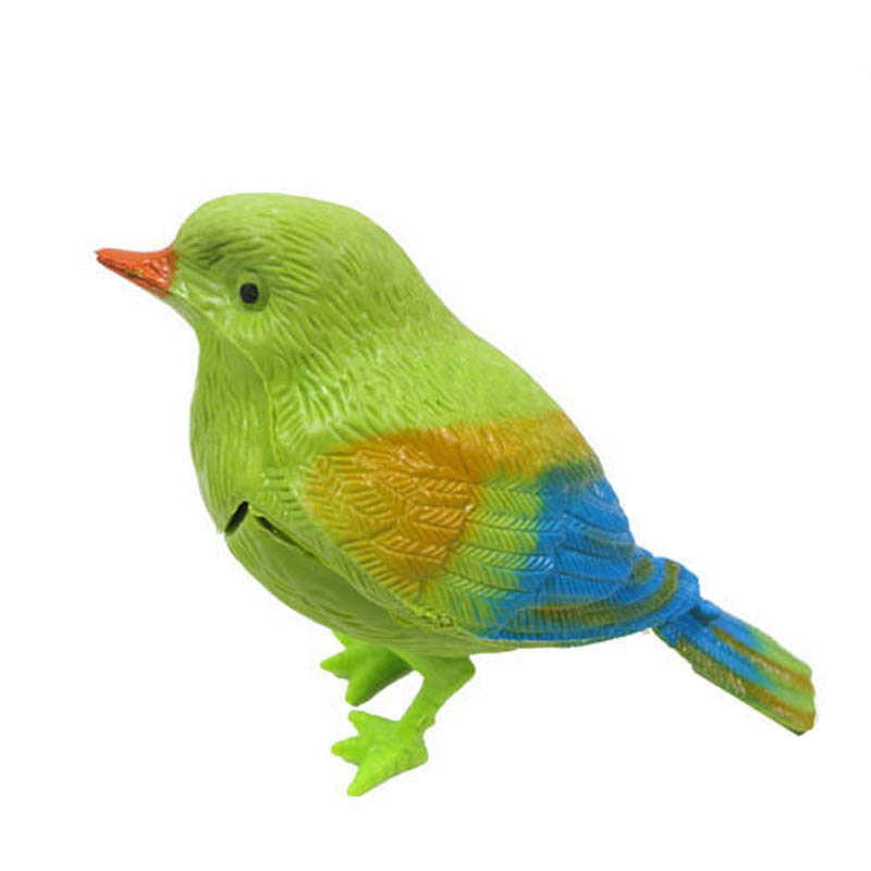 Plastic Sound Voice Control Activate Chirping Singing Bird Funny Toy Gift