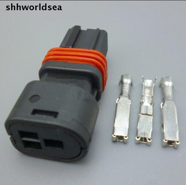 shhworldsea 5/30/100sets kit 1.5mm 3p 3way auto wire harness connector