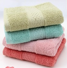 купить New 2pcs/lot 33*74cm 100% cotton towel face washcloth hand towels solid toallas algodon brand gift towels bathroom Free shipping по цене 665.64 рублей