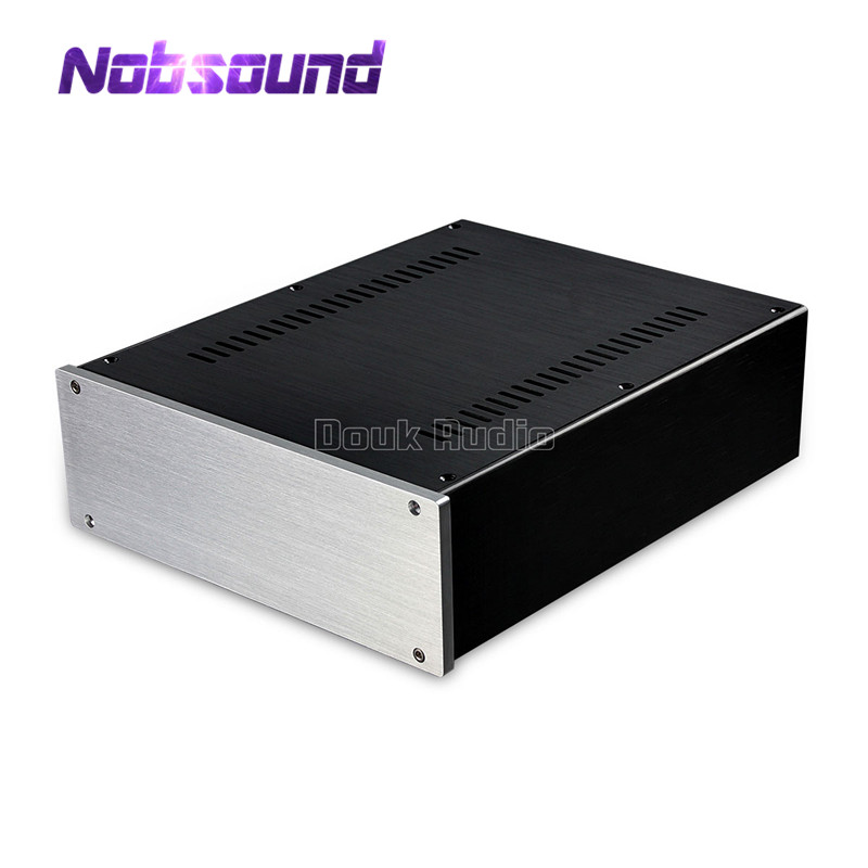 Nobsound Aluminum Chassis Power Amplifier Case DIY Box Combined Enclosure W260 H90 D311mm
