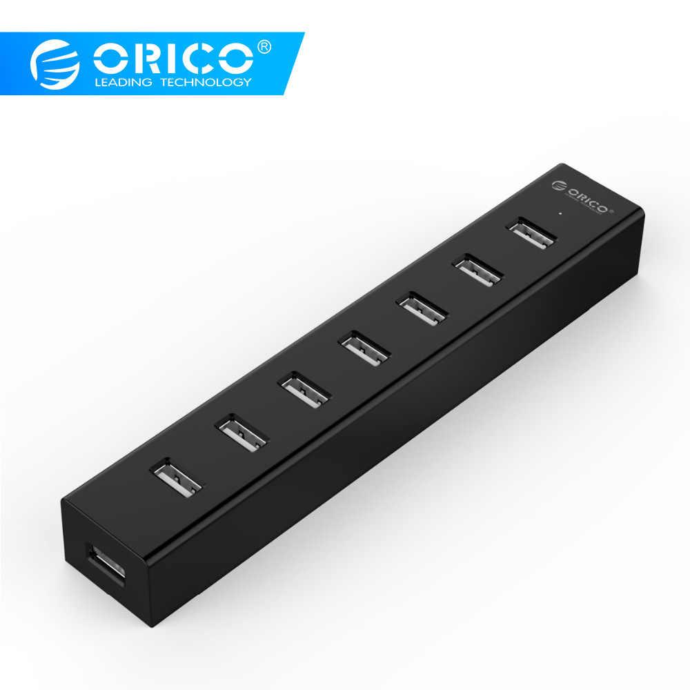 ORICO 7 منافذ USB 2.0 HUB اسرع مع 30 سنتيمتر كابل بيانات ل ويندوز XP/فيستا/7/8 /10/لينكس/ماك OS (H7013-U2-03)