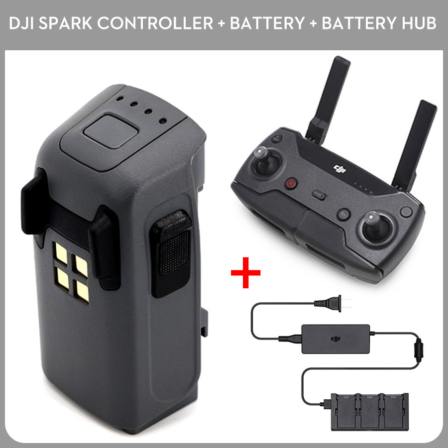 DJI Spark Intelligent Flight Battery & Drone Remote Controller & Spark Battery Charger Free Shipping dji аккумулятор для квадрокоптера spark part3 intelligent flight battery