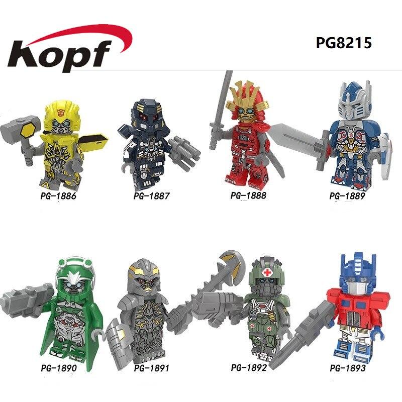 Oyuncaklar ve Hobi Ürünleri'ten Bloklar'de 50 adet Toptan Yapı Taşları Tuğla Robot Film Teknik Deformasyon Karikatür Rakamlar Çocuk Koleksiyonu Oyuncak Hediye PG8215'da  Grup 1