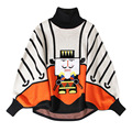[TWOTWINSTYLE] 2017 Spring Batwing Sleeves Cartoon Embroidery Pullovers Cloak Sweatshirt Women New Fashion Clothing