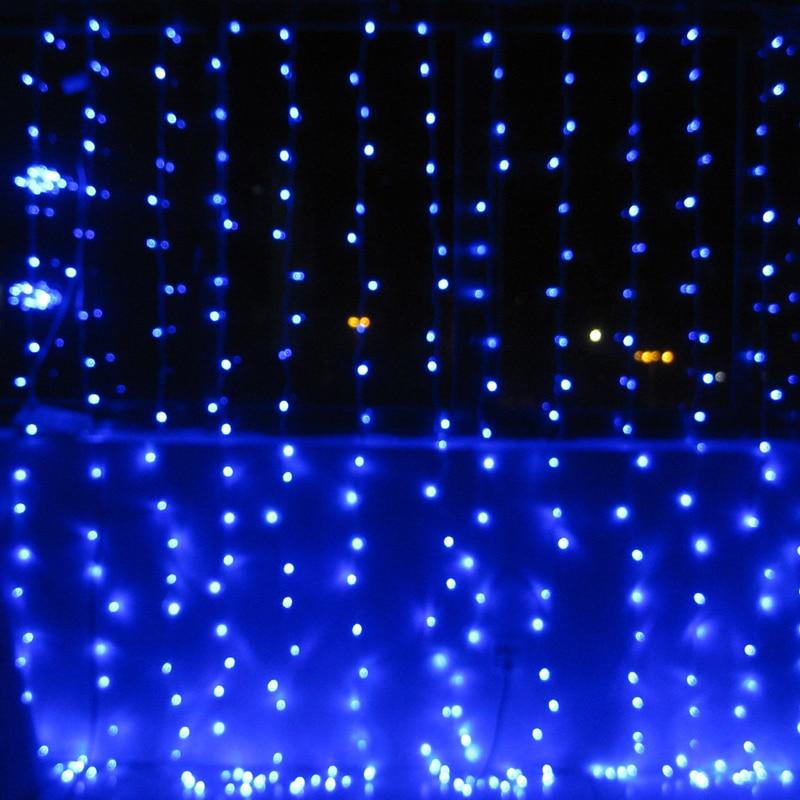 220V bule 400 LEDS 3 M * 3 M LED Rideau Cascade De Noël Partie - Éclairage festif - Photo 3