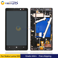100 Tested For Nokia Lumia 930 Lcd Display Touch Screen Digitizer Assembly Black Replacement Free Shipping