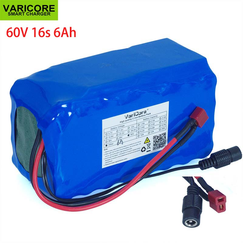 60V 16S2P 6Ah 18650 Li-ion Battery Pack 67.2V 6000mAh Ebike Electric bicycle Scooter with 20A discharge BMS 1000Watt60V 16S2P 6Ah 18650 Li-ion Battery Pack 67.2V 6000mAh Ebike Electric bicycle Scooter with 20A discharge BMS 1000Watt