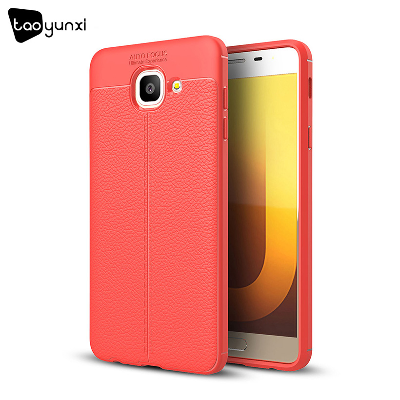 TAOYUNXI Cases For Samsung Galaxy J7 Max Case Silicon Samsung J7 Max G615F Cover SM-G615F Cases Fiber Litchi Back Covers 5.7inch