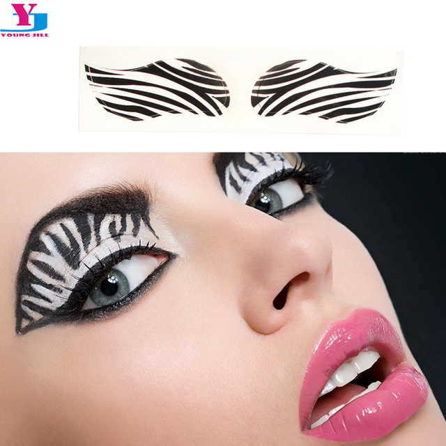 New Sexy Zebra Eyeshadow Tattoo Sticker Water Transfer Eye Liner Art