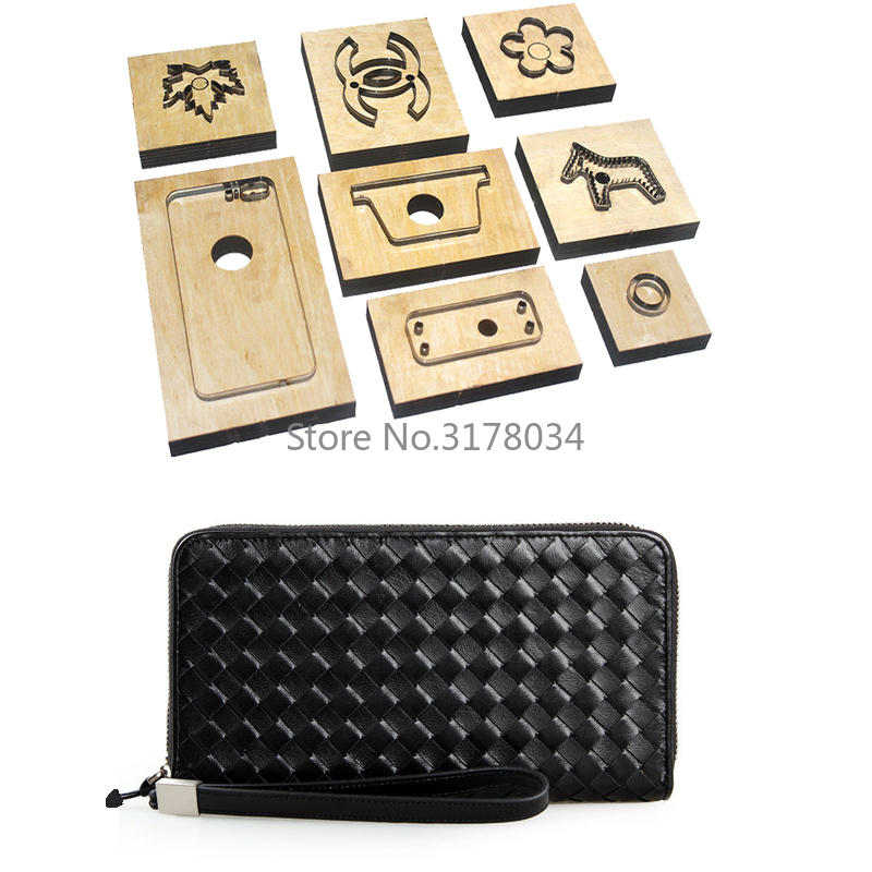 Japan Steel Blade Rule Wood Cutting Dies Cut Steel Punch Wallet Cutting Mold for Leather Cutter for Leather Crafts 190x90x25mm