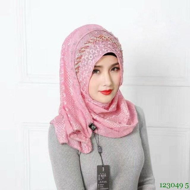 New Premium Silk Embroidery hijabs Beaded Fashion muslim hijab for muslim women abaya