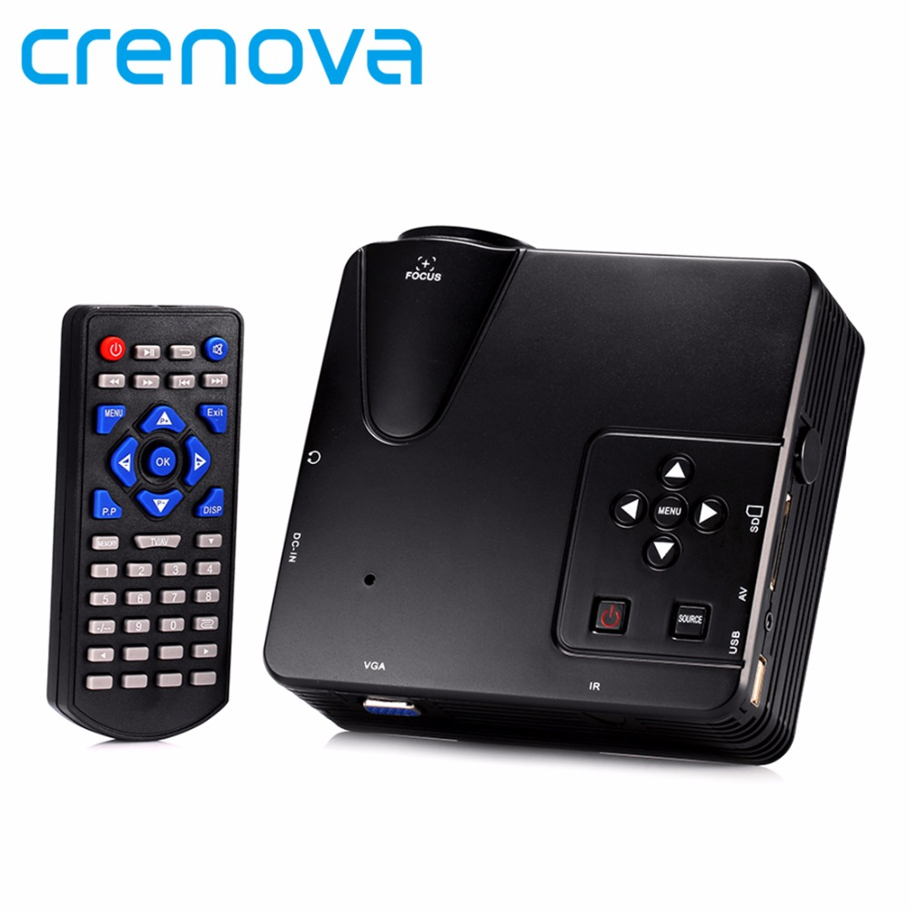 Crenova H80 640x480 Pixels Support HD 1080P Mini Portable LED Projector Home Theater LCD Image System