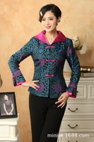 Chinese Tang Suit Women's Silk Jacket Coat size: M 3XL