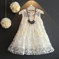 Girls Lace Embroidered Multi-layer Dress Children's Gauze Dress