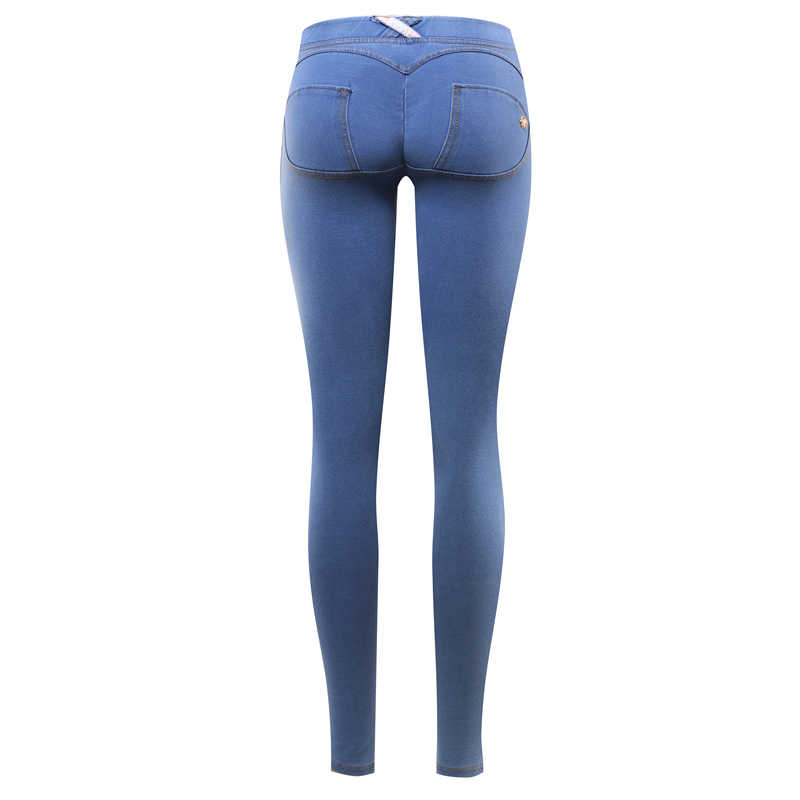c8226e8227a35 ... GENPRIOR Peach Push Up Hip Jeans Fitness Women Skinny Silicone  Anti-skid Exercise Leggings High ...