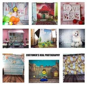 Фотофон с белыми кирпичными стенками, деревянный пол, фоны для домашних животных, игрушек, фотостудии, детский душ, новорожденный, дети