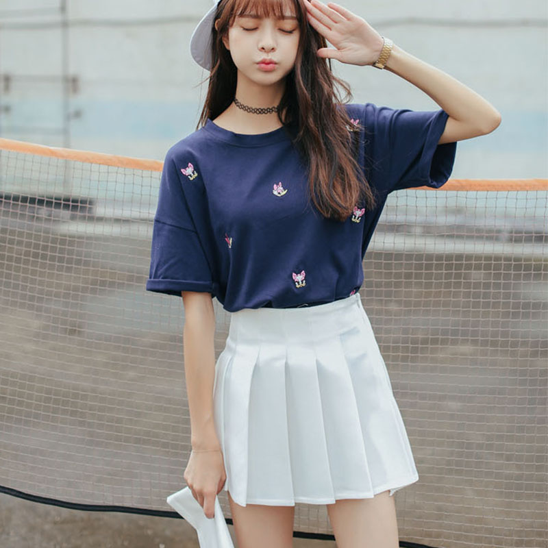 Sale summer School Style Fashion Women elegant half Pleated mini Skirts high waist casual girls skirts women leggings skirt