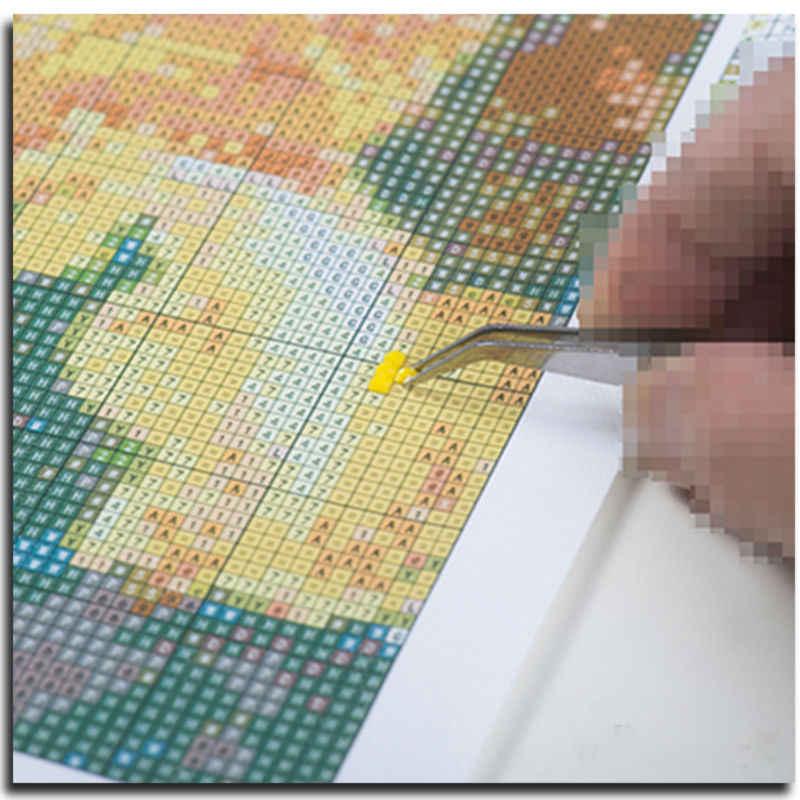 DIY búho diamante bordado animal con sombrero diamante pintura Cruz-puntada Luna hobby artesanía icono costura imagen de diamantes de imitación