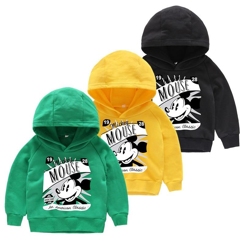 Aileekiss Große Größe Jungen Mickey Hoody Sweat Shirts Für Baby Mädchen Kleidung Für Frühling Herbst Toddles Mädchen Baumwolle Mantel 1-11 Jahre Letzter Stil Pullover Sweatshirts