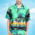 De gran Tamaño 2017 Nueva Mens de La Llegada Camisa Hawaiana de la Pareja Ocasional camisa masculina de Playa Impresa Camisas de Manga Corta Hombre Y2365