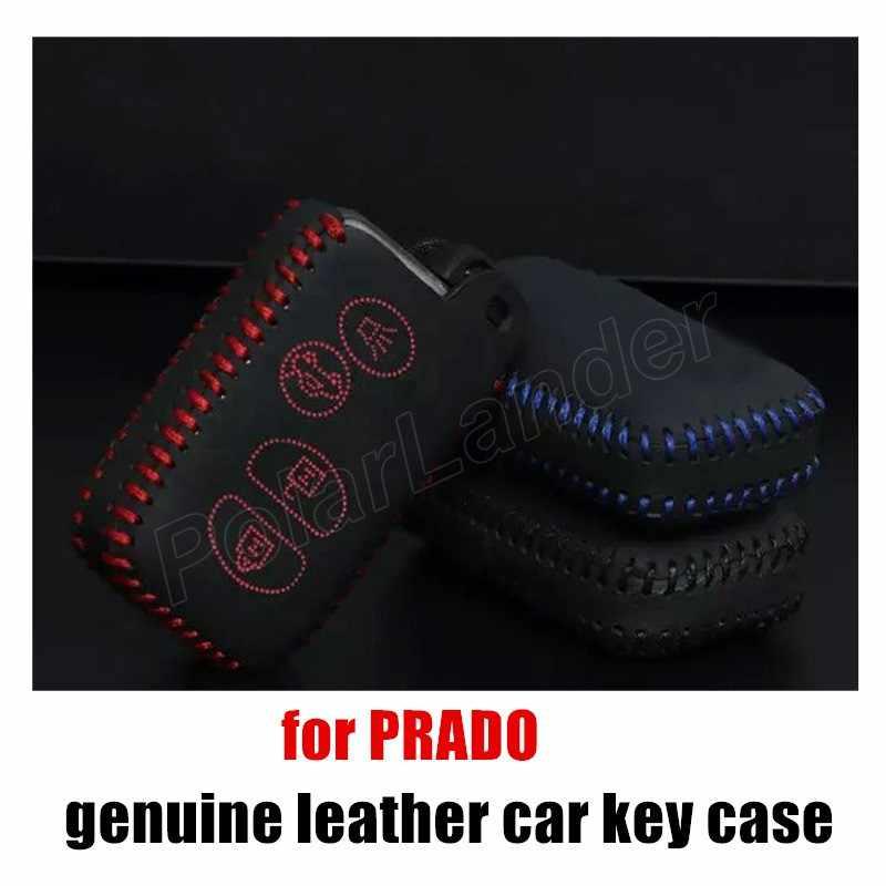 Sólo rojo original hecho a mano cosido a mano de la caja de la llave del coche de cuero genuino cubierta para TOYOTA/OLD/CAMRY/CROWN/REIZ/PRADO