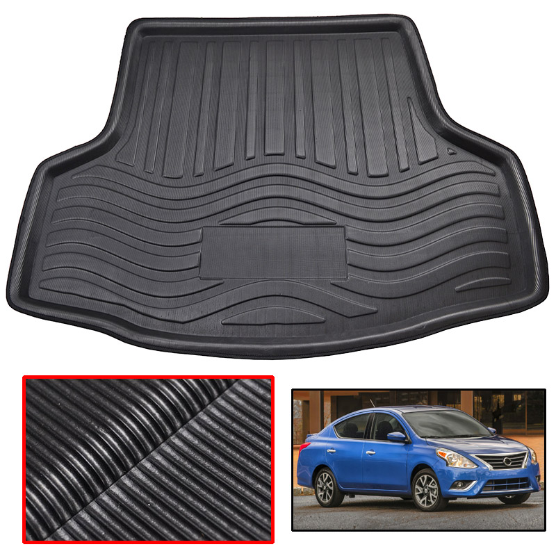 Interior Accessories Fit For Nissan Versa Almera Sedan 2012-2017 2013 2014 2015 2016 Rear Boot Liner Trunk Cargo Mat Tray Floor Carpet Protector 2019 New Fashion Style Online Automobiles & Motorcycles