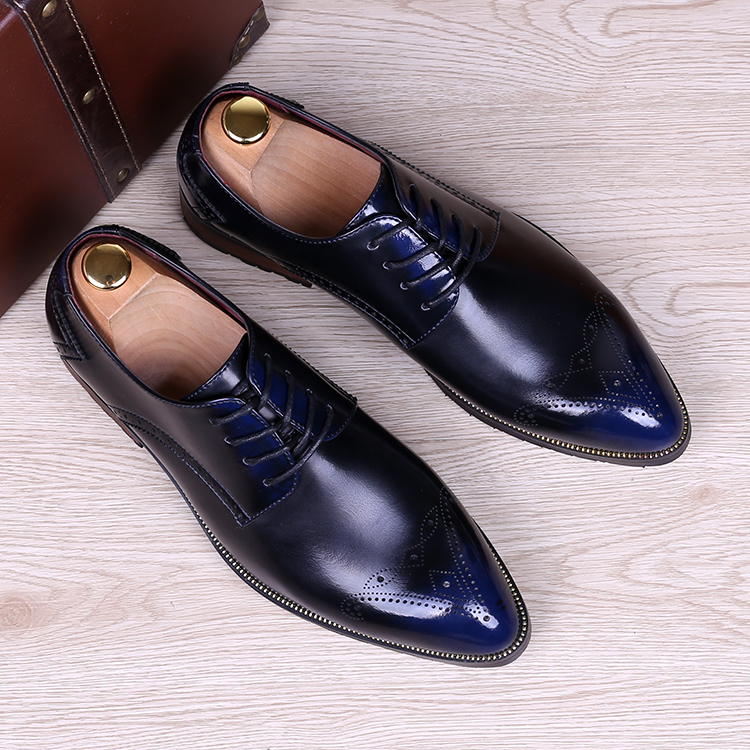 British fashion men business wedding dress bright patent genuine leather brogue shoes carved bullock oxfords shoe pointed toe bullock men s oxfords shoes 2016 spring autumn british carved leisure shoes fashion retro pointed toe brogue shoes for men