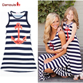 Mother and Daughter Dress Girls Clothing Family Matching Outfits Baby and Mom Dress Summer Stripe Girl Dress Women Kids Pajamas