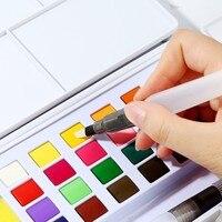 Высококачественные профессиональные твердые водорастворимые портативные акварельные краски в наборе яркие цвета пигментная краска студе...