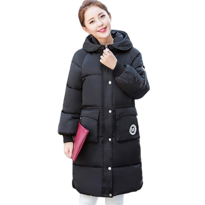 2017 new mujer winter parkas women long hooded jackets coat bread slim...