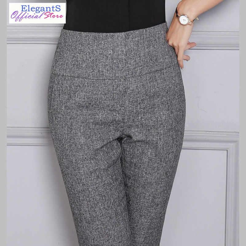 Pantalones De Cintura Alta Mujer Coreana Moda De Mujer Para Oficina Pantalones Casuales Oficina Trabajo De Negocios Caliente Lapiz Pantalon Ropa Para Mujer 2019 Pantalones Y Pantalones Capri Aliexpress