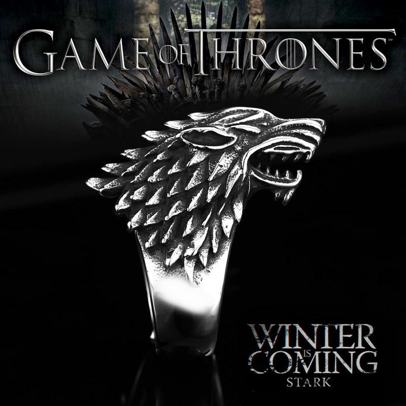 Beier rozsdamentes acél viking farkas gyűrű Thrones jégfarkas ház állat férfi gyűrű Divat kiváló minőségű ékszerek LLBR8-351R