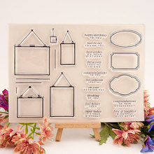 New Blessing phrase Border Transparent Clear Stamps Silicone Seal for DIY Scrapbooking Card Making Photo Album Decoration Crafts