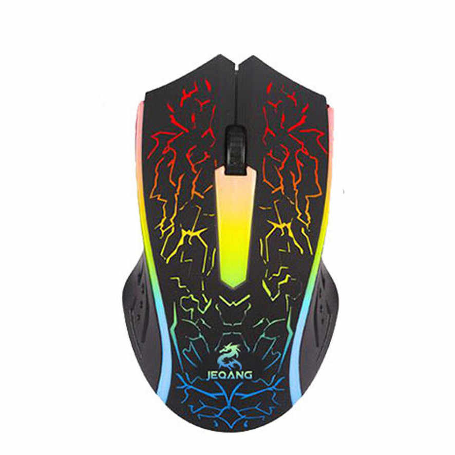 Best price Optical LED Gaming Mouse Adjustable DPI 2000DPI 2 Buttons For PC Laptop