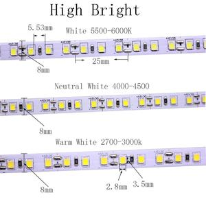 Image 4 - 超高輝度 5 メートル 2835 SMD 120led/m の 600 leds 白ウォームホワイトフレキシブル Led ストリップ 12V 非防水よりも明るく 3528 ストリップ