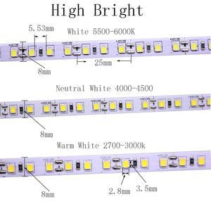 Image 4 - Super Helle 5M 2835 SMD 120led/m 600Leds Weiß Warm Weiß Flexible LED Streifen 12V Nicht  wasserdichte mehr heller als 3528 streifen