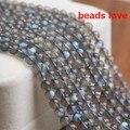 "Pick Size 4.6.8 .10MM AAA Natural Labradorite Stone Round Loose  Beads 15""/Strand Free Shipping-F00193"