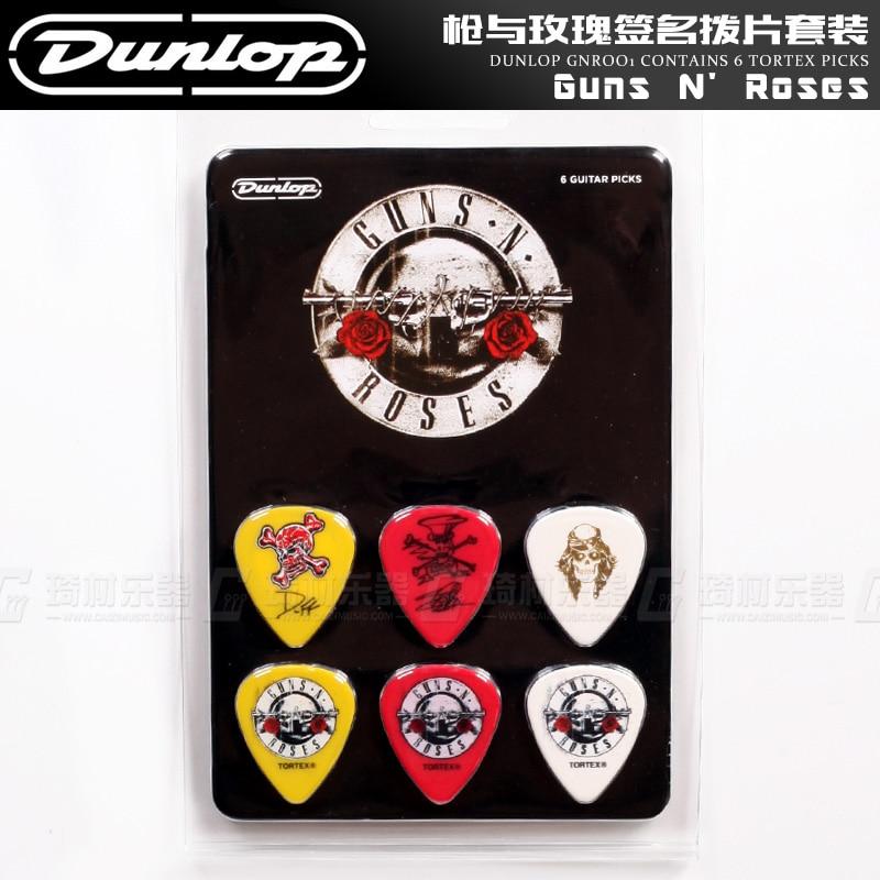Dunlop GNR001 Guns N Roses Signatured Tortex Guitar Picks,  6-Picks in 1 Pack, Collector's Item guns n roses guns n roses live in new york city february 2 1988