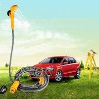 2016 Portable 12V Electric Car Plug Outdoor Camper Caravan Van Camping Travel Shower