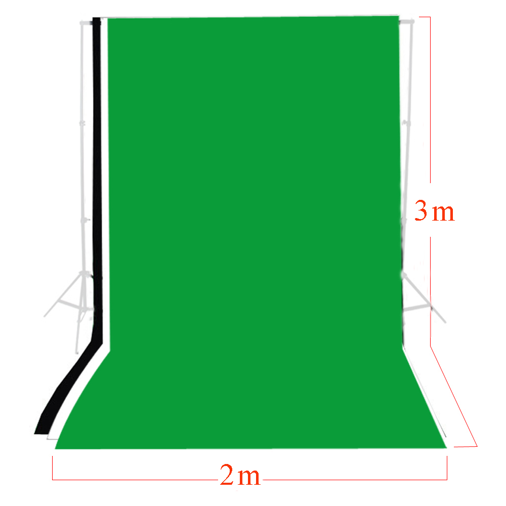 ФОТО Fotografia Photo Background 3 pcs 2m x 3m Solid Green Black White Muslin Backdrop Set Photography Backgrounds Backdrop